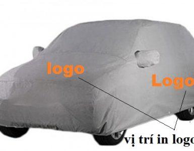 bạt phủ xe ô tô in logo