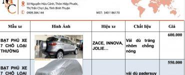 giá bạt phủ ô tô