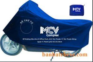 Áo mưa che xe máy in logo