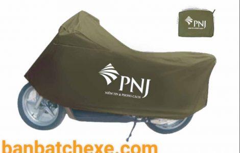 Áo trùm xe in logo quảng cáo