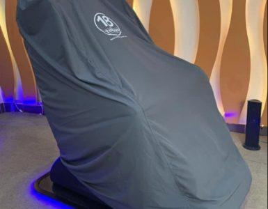 Nhận may bao trùm ghế massage in logo