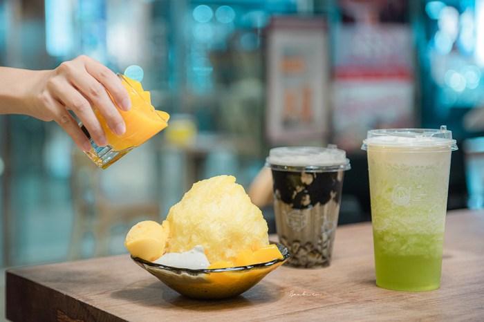 台北信義ICE MONSTER:新手搖飲!超濃茶冰塊,推薦芝麻厚奶茶、葡萄水果茶、奶蓋哈密瓜茶飲料