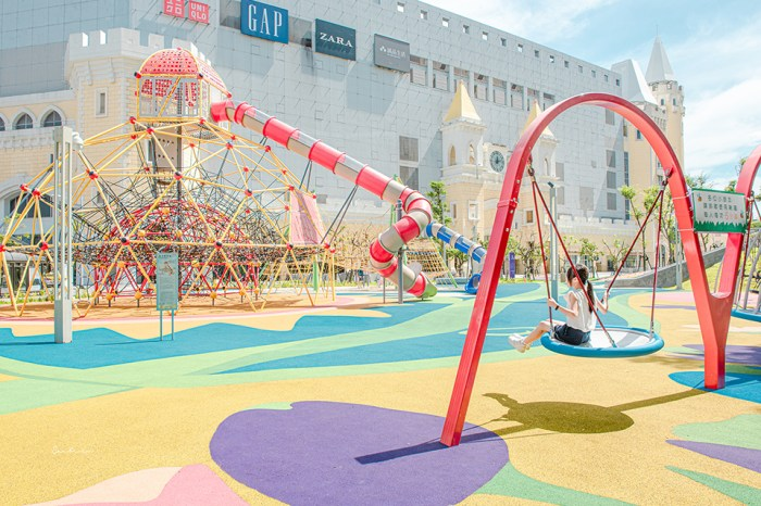 桃園台茂購物中心Taimall Park:免費戶外五大主題公園遊戲場,玩樂、購物、吃飯全滿足