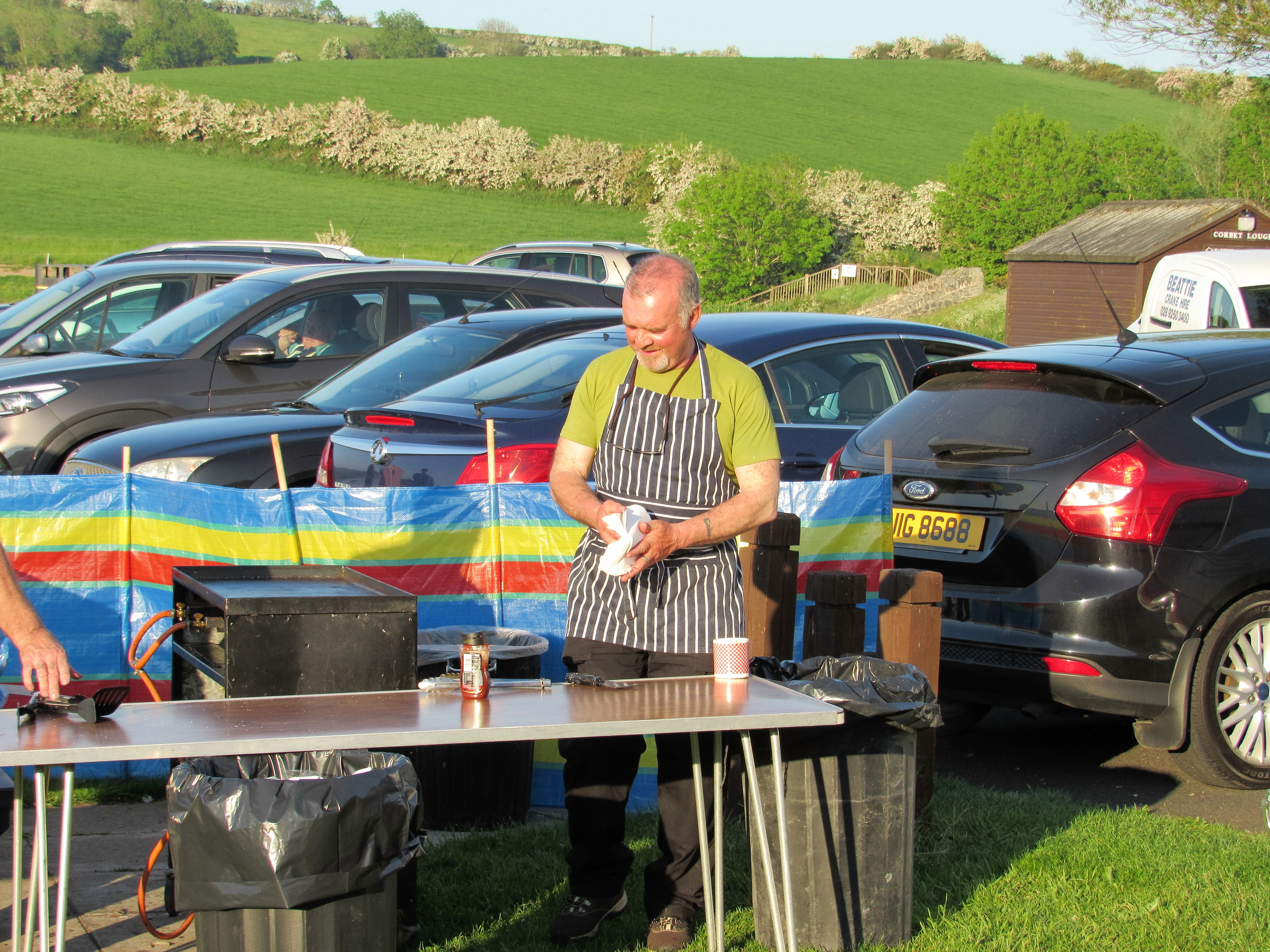 BAC Geoff Hylands, Head Chef at the Juvenile and Junior Prize Distribution Evening and BBQ at the Corbet Lough on 25 May 2017