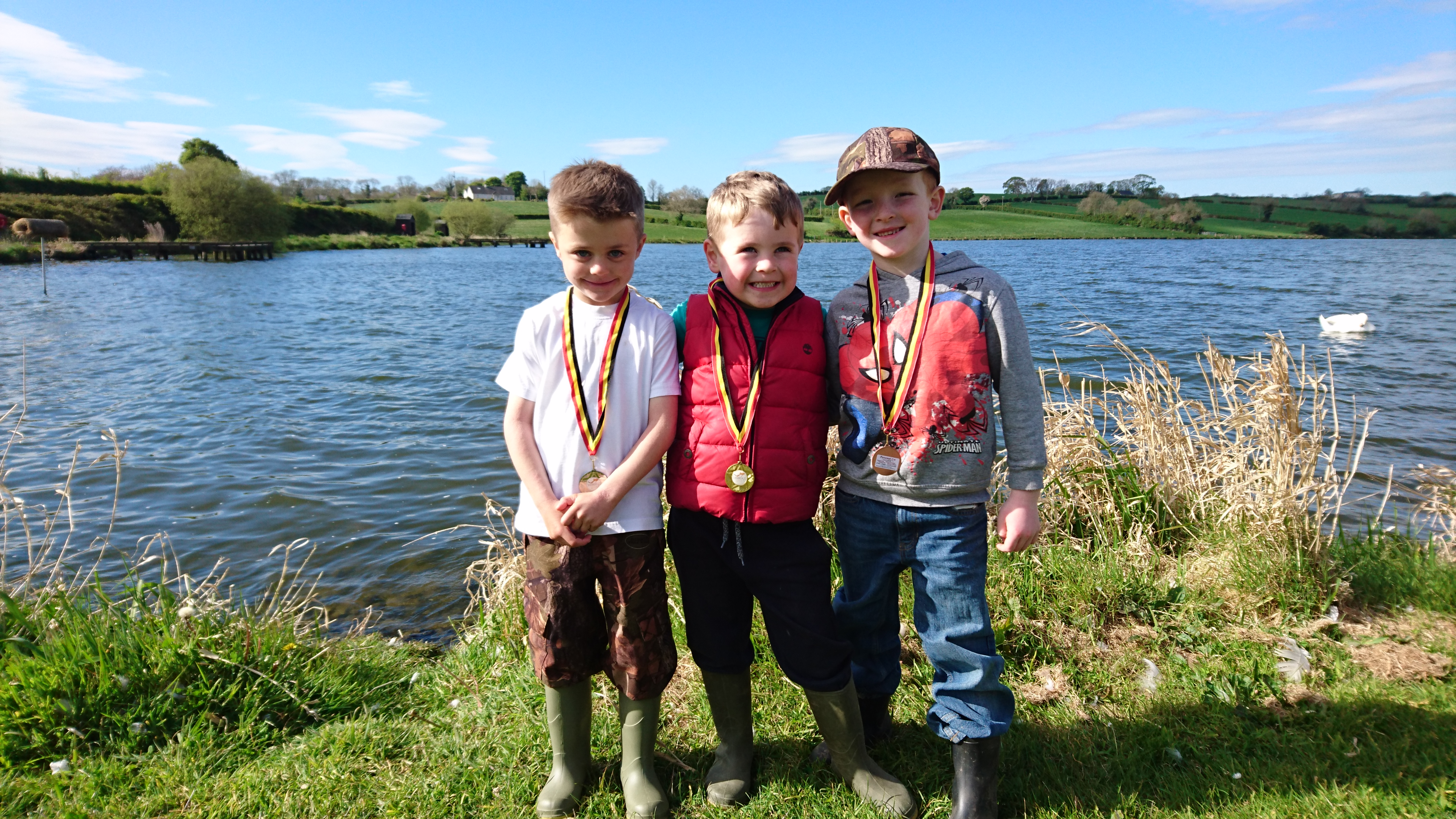 BAC Junior Anglers at the Bill Gault Glazing Cup competition at Corbet Lough on 6 May 2017