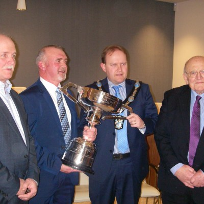BAC Sam Watt, Geoffrey Hylands, Lord Mayor Gareth Wilson and Sam Vage ABC Council Event to recognise Geoffrey Hylands World Cup Winner - 8 February 2018