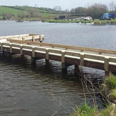 BAC Refurbished Fishing Stand at Corbet Lough April 2018