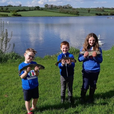 BAC Bill Gault Glazing Cup (Junior Anglers) at Corbet Lough 12 May 2018 -junior anglers and their fish