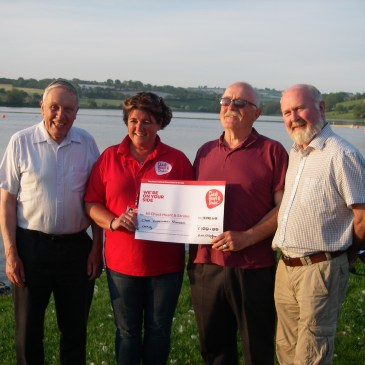 Charity donation to Chest, Heart and Stroke Association