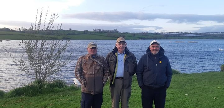 BAC - The Jim Ledlie Cup Competition at Corbet Lough on 27 April 2019 - Noel Burns 3rd, Sam Grant 1st and Geoff Hylands 2nd