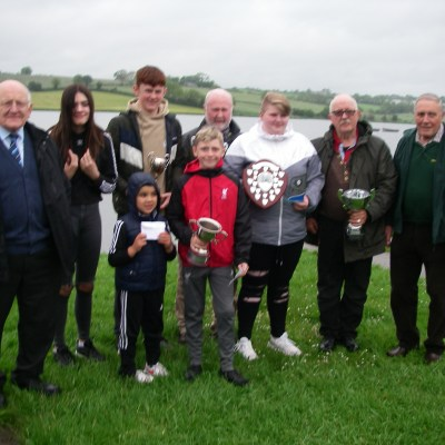 BAC - Juvenile and Junior Prize Distribution at Corbet Lough on 30 May 2019 - Joint Presidents Sam Vage and Joe McCandless, Joe Curran, Secretary and Wilson Clinghan, Assistant Competition Secretary with the 2018 Juvenile and Junior Prize Winners
