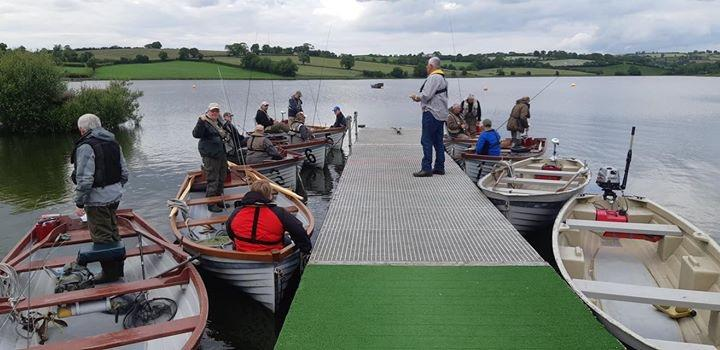 BAC - Andy, Boat Attendant oversees the anglers heading off to fish in the Boat Anglers Cup and Wardsworth Bethel Cup competitions at Corbet Lough on 21 June 2019.