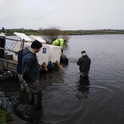 BAC - Fish Stocking at Corbet Lough on 17 March 2020