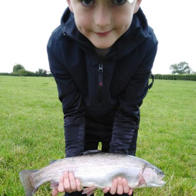 BAC - A juvenile angler with a nice fish caught at the Corbet on Saturday 4 July 2020