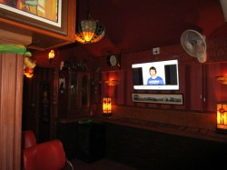 TV in Noot bar