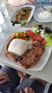 Pork chop at Smarties restaurant