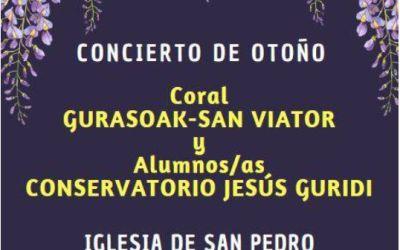 CONCIERTO DE OTOÑO.  ACTO SOLIDARIO A FAVOR DEL BANCO DE ALIMENTOS DE ALAVA