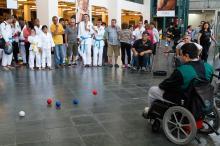 A ação divulgou as modalidades paralímpicas e seus respectivos atletas
