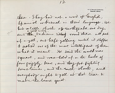 Exhibit item: HARRY DIDIER LAMOTTE, Statement from Harry Didier LaMotte: manuscript, undated