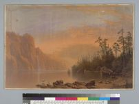 Bierstadt, Albert & Harring, William. Sunset, California scenery (1868). BANC PIC 1963.002:0401--B. Courtesy of The Bancroft Library, University of California, Berkeley ONLINE