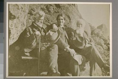 William Keith, Charles Keeler, John Burroughs. Courtesy of The Bancroft Library, University of California, Berkeley Online