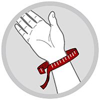 Håndledsbandage med skinne og velcrolukning