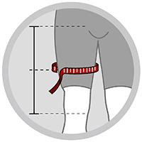 Lårbind med kompression i neopren