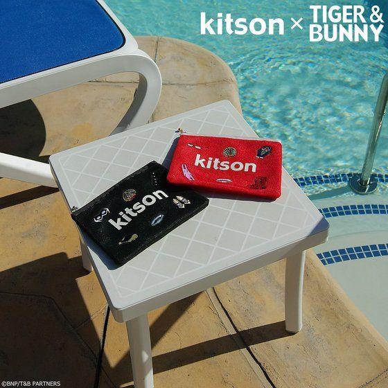 kitson × TIGER & BUNNY メッシュポーチ ※オリジナルハンカチ付き アニメ・キャラクターグッズ新作情報・予約開始速報