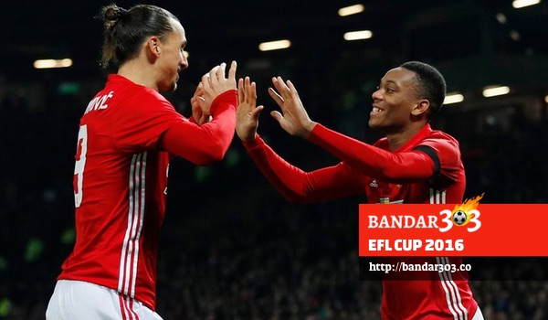 Anthony Martial Zlatan Ibrahimovic Manchester United League Cup West Ham United