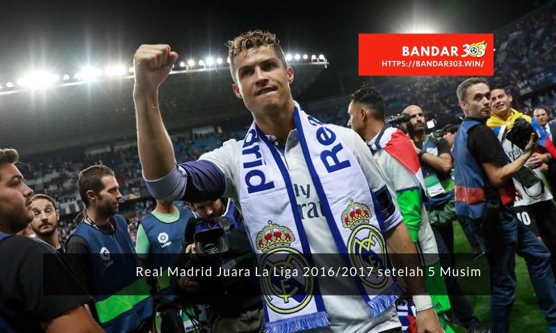 Christiano Ronaldo bawa Real Madrid juara La Liga musim 2016-17