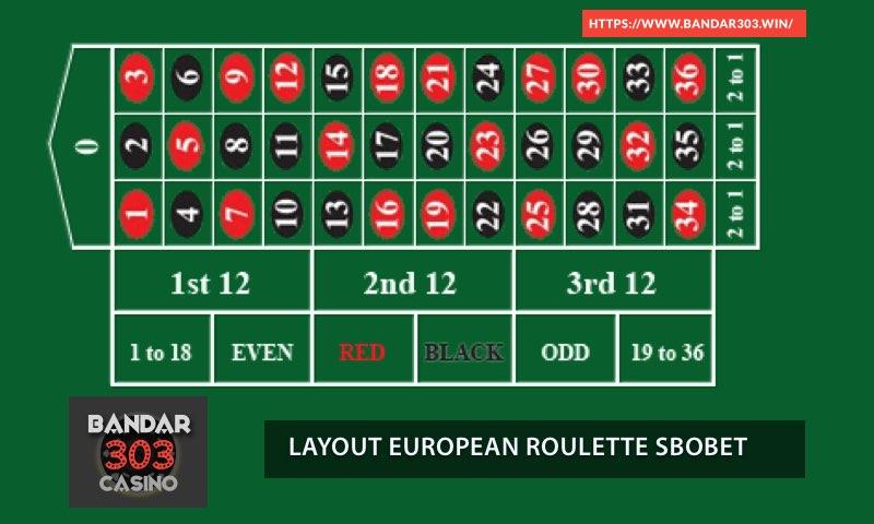 Layout Roulette Live Dealer SBOBET