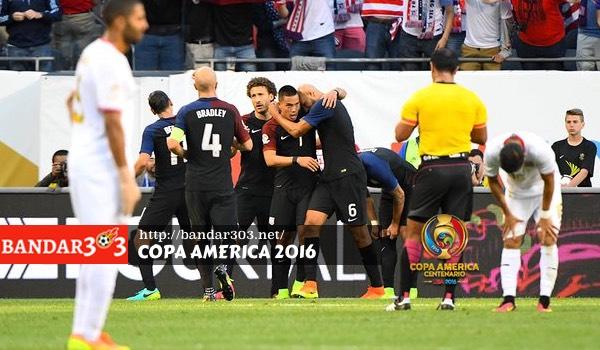 Bobby Wood Amerika Serikat Kosta Rika Copa America 2016