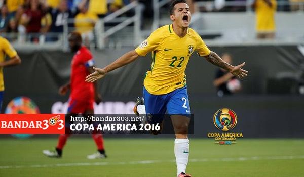 Philippe Coutinho Brazil Copa America 2016