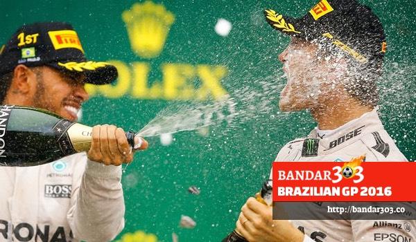 Lewis Hamilton Nico Rosberg Brazilian GP 2016