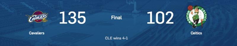 ScoreBox Game 5 Eastern Conference NBA Final
