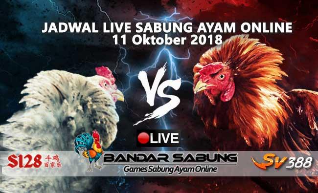 jadwal sabung ayam online s128 dan sv388 11 oktober 2018