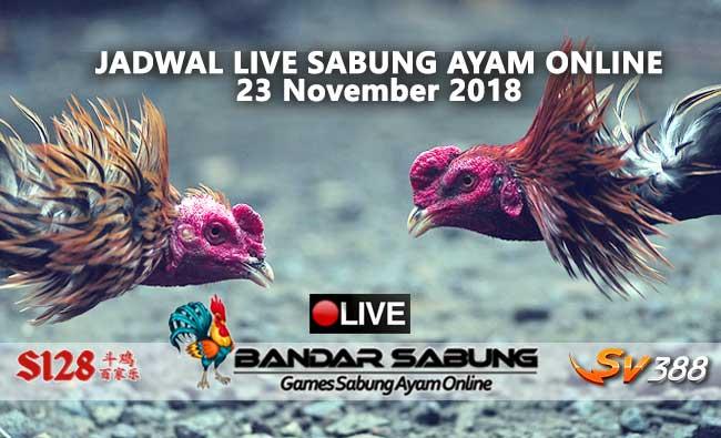 jadwal sabung ayam online s128 dan sv388 23 november 2018