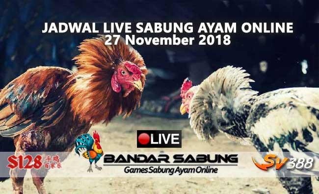 jadwal sabung ayam online s128 dan sv388 27 november 2018