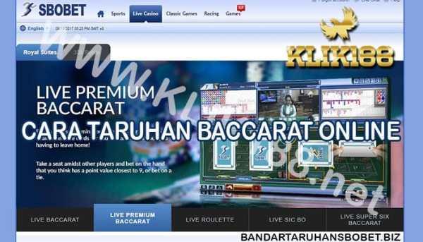 Cara Taruhan Baccarat Online