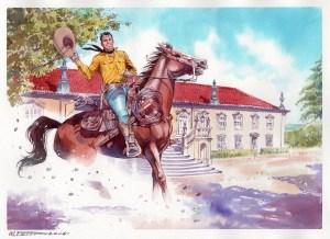 Tex no Paço da Graciosa, Anadia. Arte de Maurizio Dotti