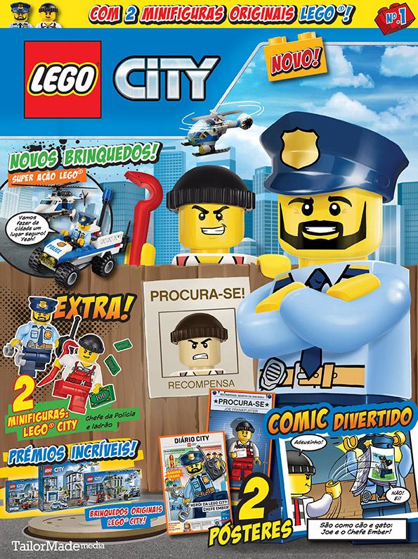 lego city 1 a nova revista lego com bd bandas desenhadas