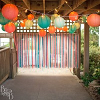 A Ribbon Backdrop that's Destination Wedding Approved