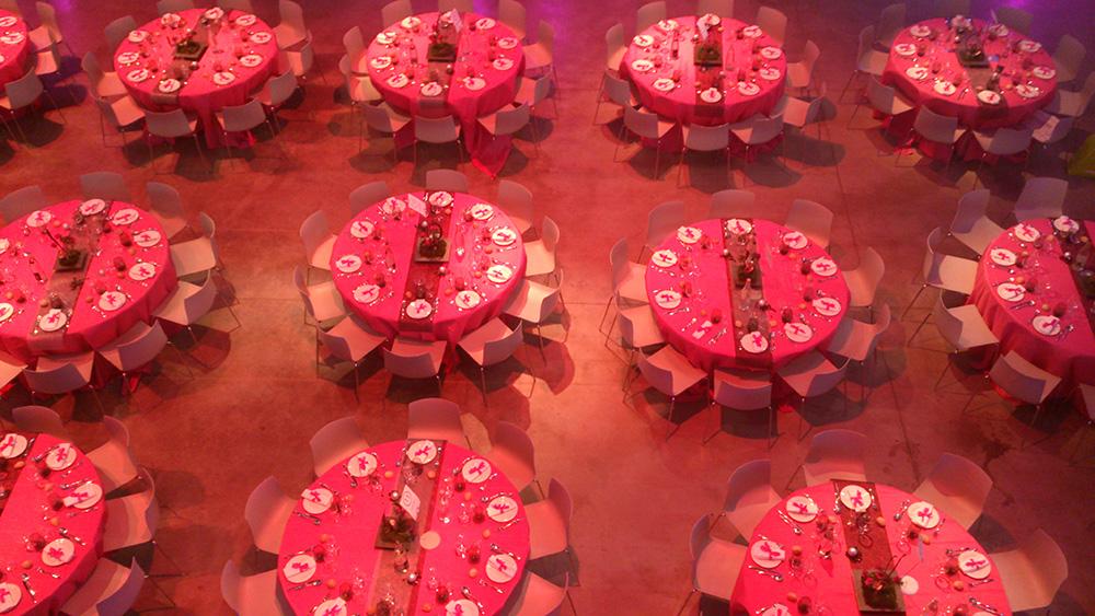 Décoration de table pour des événements professionnel