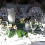 Décoration de table de mariage avec des fleurs