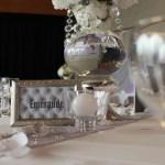 Décoration de table de mariage blanc