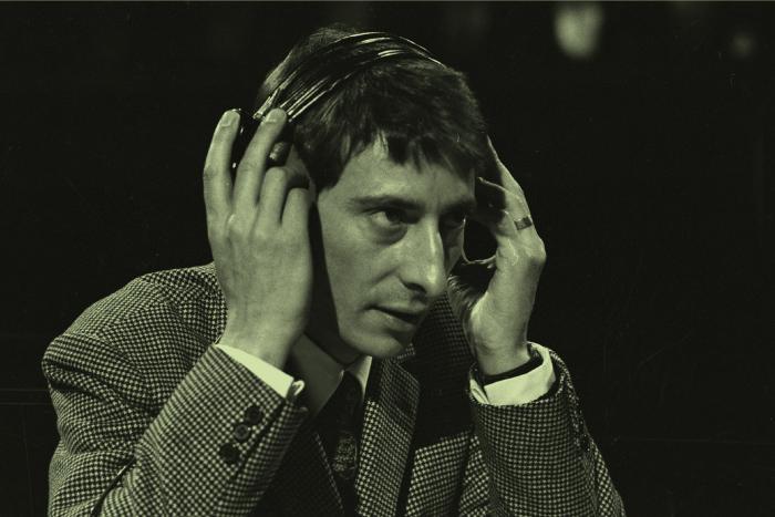 Luc Ferrari, 1965. Photo by Laszlo Ruszka.