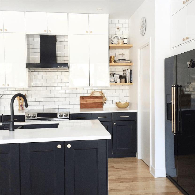 black kitchen appliances craftsman style cabinets rising stars matte bandd design