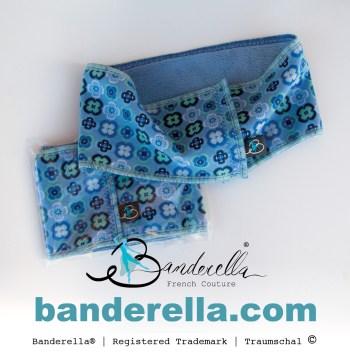 Die etwas andere Schlafmaske : Traumschal von Banderella im Retrolook mit Prilblumen