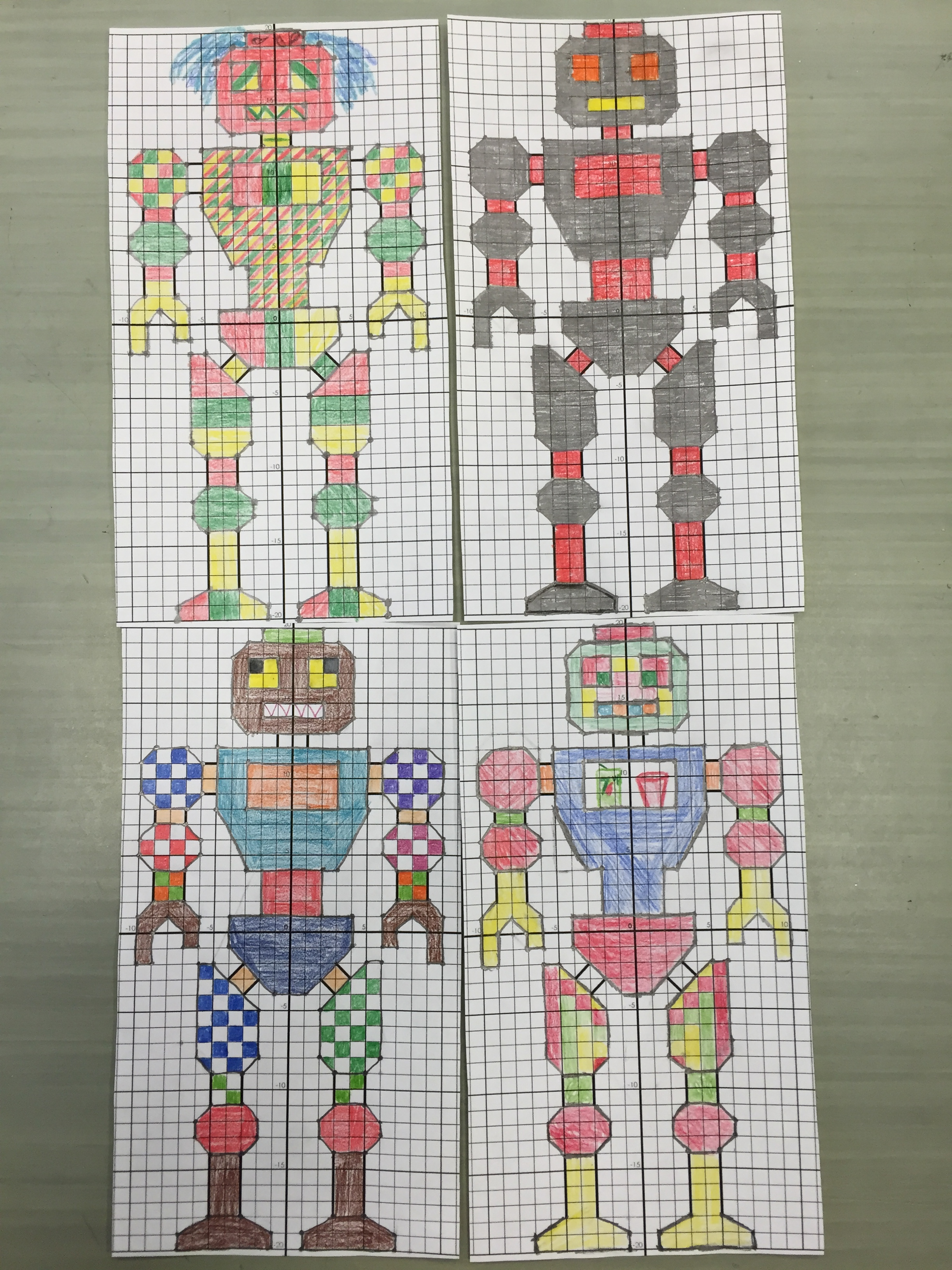 Robot Graphing Math Worksheet Robot Best Free Printable
