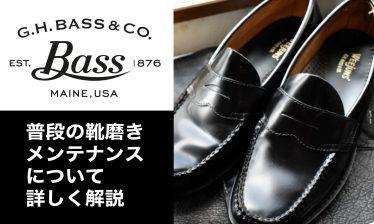 【画像あり】G.H.BASS LOGAN 普段の靴磨きメンテナンスについて詳しく解説